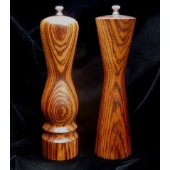 Salt or Pepper Mills in Zebrawood